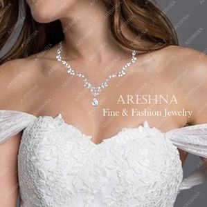 Areshna Jewelry - Floral Swarovski Luxury Bridal Jewelry Set